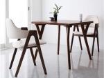 北欧モダンデザインダイニングテーブル【VILLON】ヴィヨン ホワイトチェア 3点セット