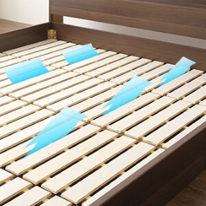 安いフロアベッド【Breeze】ブリーズ すのこ床板