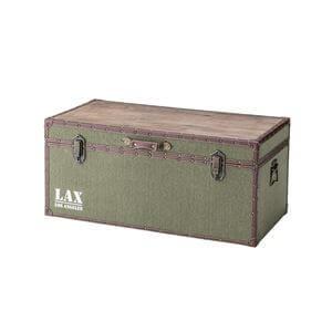 トランク型ローテーブル/収納ボックス カーキ