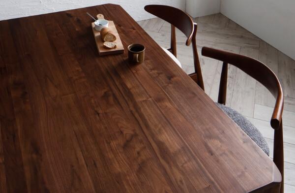ウォールナット無垢材ダイニングテーブル【Spremate】シュプリメイト 天板