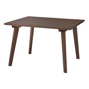 木製スクエアダイニングテーブル100 ブラウン