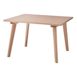 木製スクエアダイニングテーブル100 ナチュラル