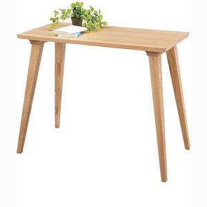 一人暮らしのダイニングテーブル 天然木90cm