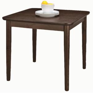 天然木ダイニングテーブル75×75 ブラウン