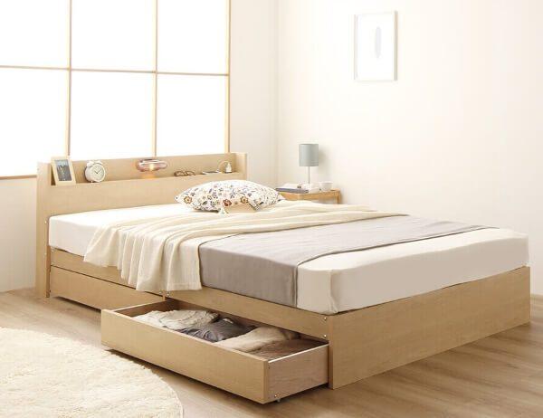 キャスター付き 収納付きベッド『Norucia』ノルシア