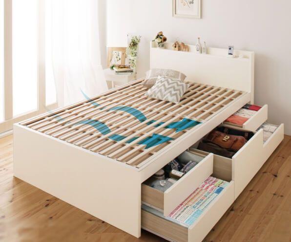 すのこ床板 大容量収納付きチェストベッド『Salvato』サルバト