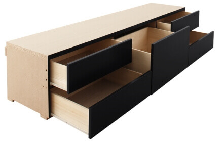 収納付きベッド 引出しBOX構造