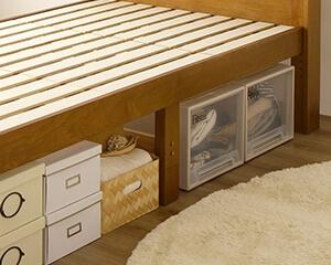 収納スペース すのこベッド『Ecru』エクルの脚部