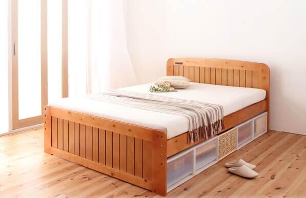 3段階高さ調節できるフリー収納スペース すのこベッド『Fit-in』フィット・イン
