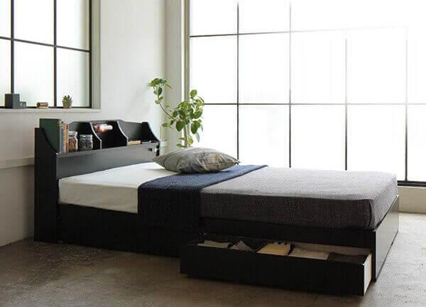 安くておしゃれな収納付きベッド『STELA』ステラ
