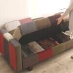 一人暮らしの収納付きソファ
