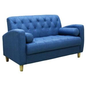 収納付き2人掛けソファ ブルー