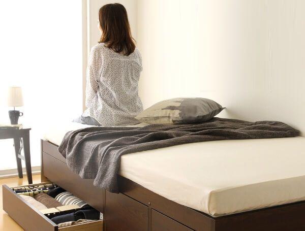 ベッド下収納 引き出し付きベッド
