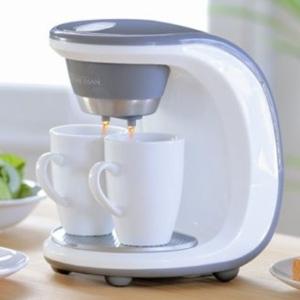陶製マグカップ2個付コーヒーメーカー