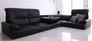 フロアコーナーソファー【BLACK】ブラック