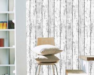 壁紙シール ウッド ヴィンテージ ホワイト系【アウトレット】6m巻