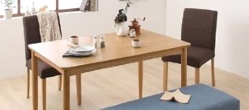 天然木オークダイニングテーブル【Queentet】クインテッド