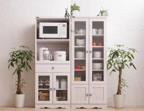 食器棚Botanicalボタニカル ホワイト150
