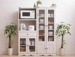 キッチン収納Botanicalボタニカル ホワイト食器棚150