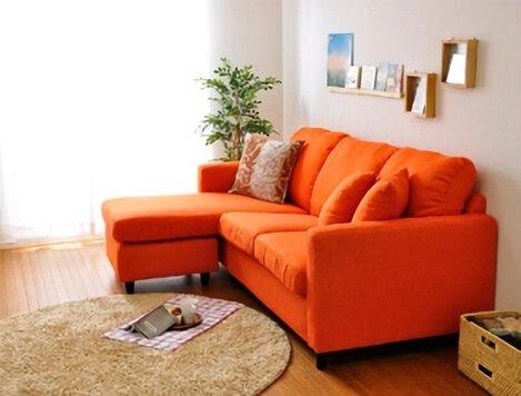 オレンジのソファ【Union】ユニオン
