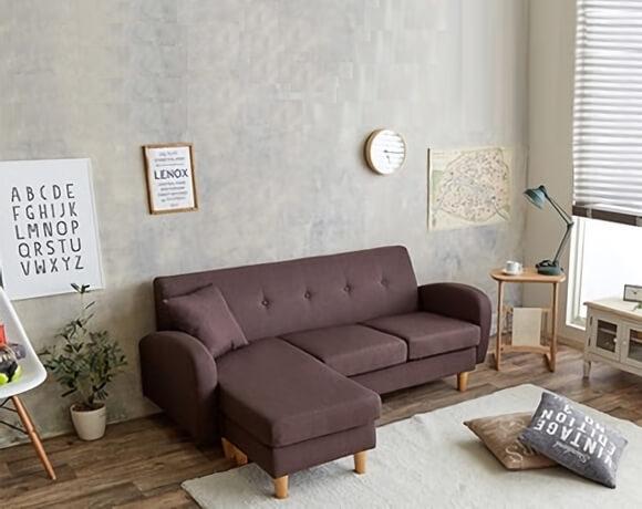 ブラウンのソファ【SPICA】スピカ