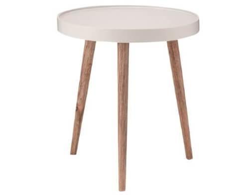 円型サイドテーブル ホワイト