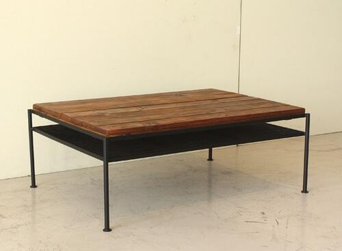 パイン古材アイアンリビングテーブル