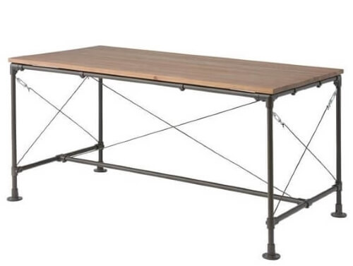配管デザインダイニングテーブル