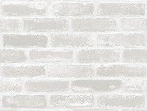 壁紙シール レンガ ヴィンテージ ホワイト系