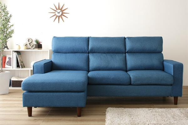 ファブリックカウチソファ【Couch sofa】 背もたれ着脱式