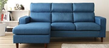 ファブリックカウチソファ【Couch sofa】背もたれ着脱式