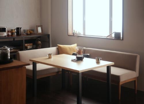 カフェ風ソファダイニング【BARIST】バリスト サンドベージュ
