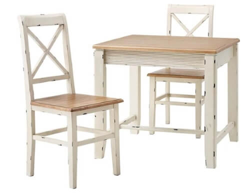 パイン材正方形ダイニングテーブル