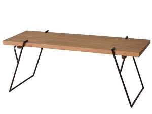 天然木コーヒーテーブル120cm