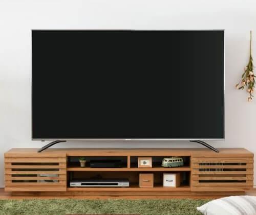 ワイドテレビ台フラップ×フラップ ナチュラル