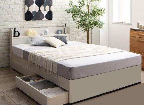 組み立て・分解簡単収納ベッドLacomitaラコミタ ホワイト