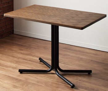 ダイニングテーブル1本脚