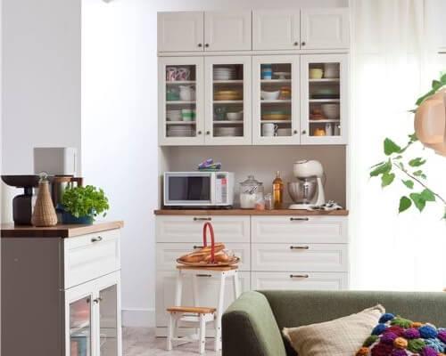 北欧キッチン ユーアイNEO LIEN食器棚140