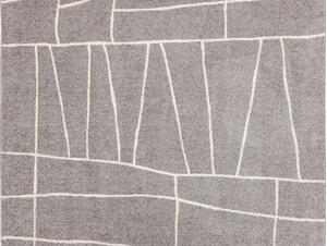 ラインラグ グレー130×190cm