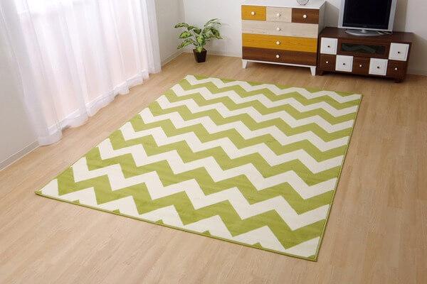 ベルギー製 輸入ラグマット ウィルトン織りカーペット 幾何柄 『イカット』