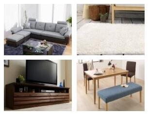 グレーのソファのコーディネートのテレビ台