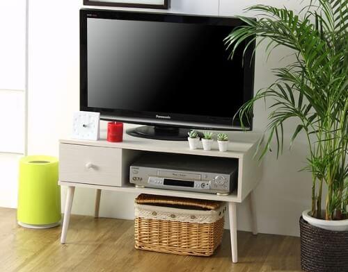 コンパクト テレビ台 ホワイト