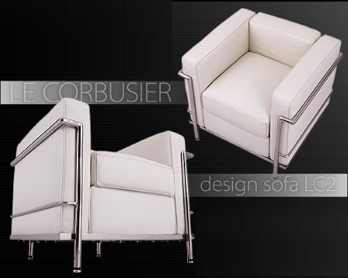 ソファ【Le Corbusier LC2】ホワイト