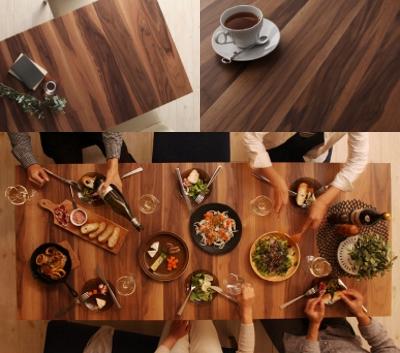 木製伸縮式ダイニングテーブル【Bolta】ボルタ 天板