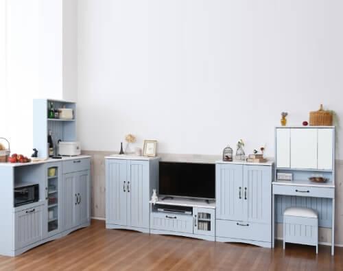 ブルー&ホワイト家具【Azur】アジュール