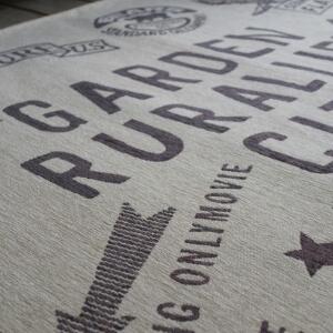 ヴィンテージゴブランシェニールラグ130×190cmチャコール