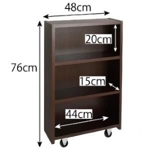 本棚付きベッドの本棚のサイズ
