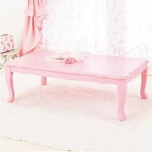 折りたたみ猫足テーブル ピンク