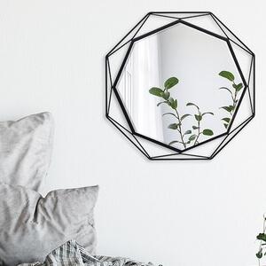 壁掛け鏡/ウォールミラー ブラックS