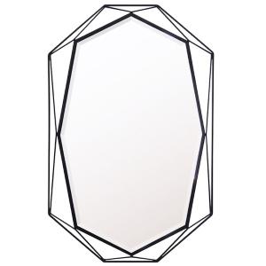 壁掛け鏡/ウォールミラー ブラックM